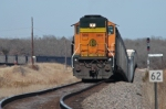 DPU on rear of BNSF empty coal train