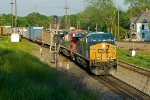 CSX 5352 West comes onto the T&P from the ex-Cotton Belt