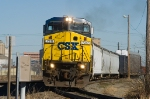 CSX 7317 South turns onto the UPs Midlothian Sub