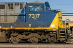 CSX 7317 East departs Centennial Yard