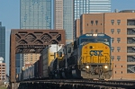 CSX 8729 crosses the Trinity River Bridge