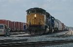 EMLX 8544 prepare to depart KCS Deramus Yard