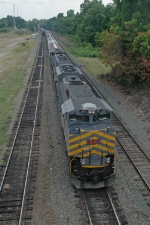 KCS 4011 South prepares to cross under the Common Street overpass