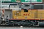 UPY 855 works the hump at Centennial Yard