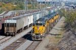 UP 3369 West departs Centennial Yard