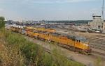 UP 4378 West arrives at Centennial Yard