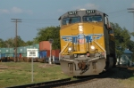 UP 5477 West swings from the Cotton Belt onto the T&P