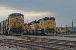 UP 8446 East prepares to depart Centennial Yard