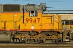 UP 9947 switches at east end of Centennial Yard