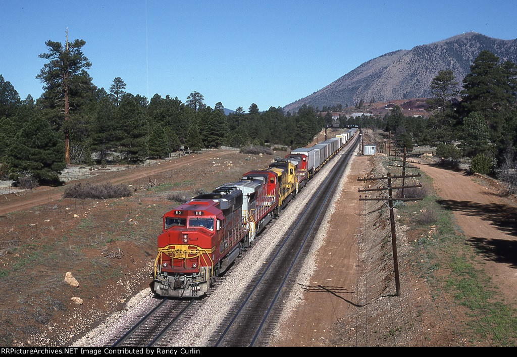 ATSF 110 East leaving Flagstaff