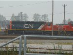 CN 6023/5411 parked near the Thorton Yard Maintenance Shop