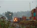 CN 3098/3813/2877 W/B exiting Thorton Yard with a unit stack train
