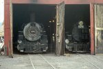 """D&RGW 2-8-2s #481 & #476 in the """"house"""""""