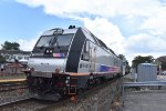 NJT Comet Set with ALP45DP on rear of eastbound to Hoboken at Rutherford Station