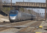 AMTK 2012 brings up the rear of a northbound Acela