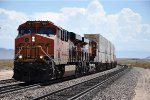 Westbound intermodal climbs the grade