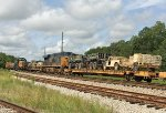 Passing GP38-2 2785 laying over, TPDX 190327 runs behind midtrain helper CSX 3018