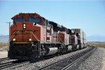 Westbound intermodal climbs the grade