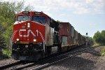 Eastbound intermodal starts down the grade