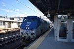 Amtrak P42 # 108 passes the NHV Union Station platform