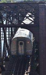 Amtrak Train # 449 crossing the Connecticut River Bridge on the B&A
