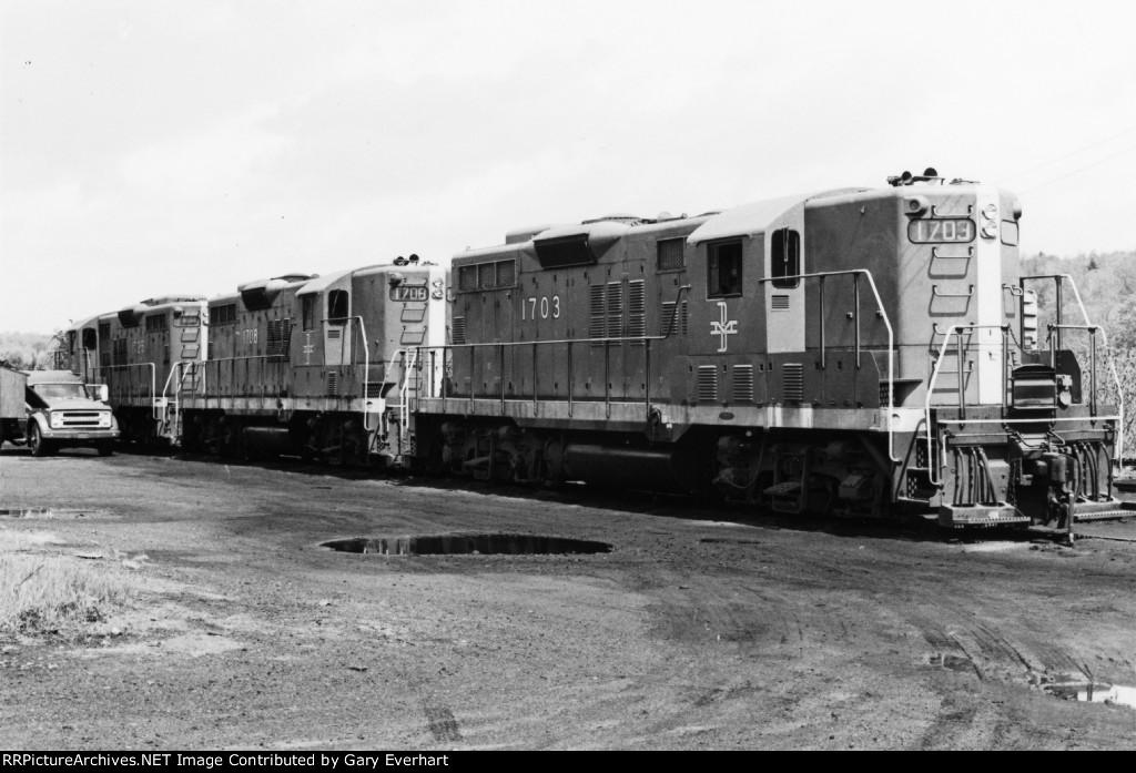 BM GP 9 #1703, #1708 & #1725 - Boston & Maine