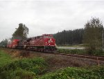 CP 8113/8515 E/B unit stack train, just west of Mission, B.C.