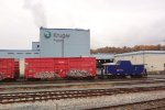 SRY caboose a6, at the back end of a SRY mixed fright consist E/B through the CP New Westminster Yard