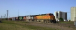 BNSF 4548 least a southbound grain train across the Saginaw, TX interlocking for former ATSF Fort Worth subdivision