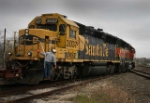 BNSF 3037/3031 work at Caldwell, TX on Somerville-Temple turn