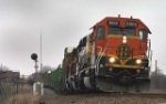 BNSF 8002 on eastbound manifest, e rogers, TX
