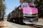 MBTA 1032 leads train 011 into Middleborough/Lakeville