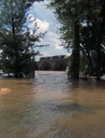 Rockville Bridge during The Flood of 2006