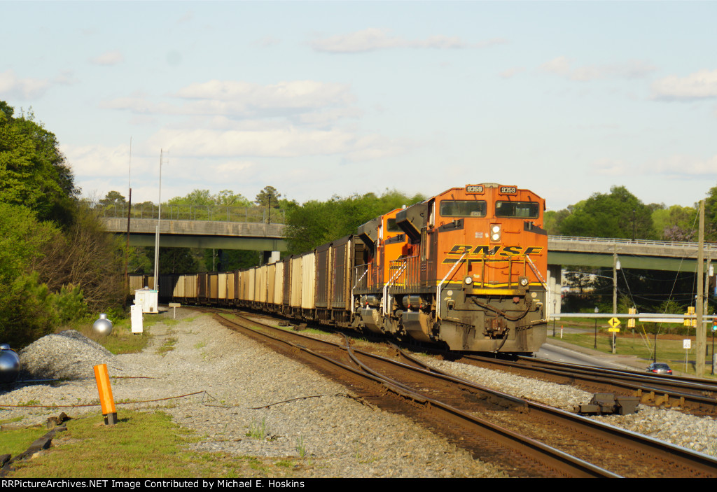 BNSF 9359 Trailing o Sherer Coal in 2015