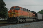 BNSF 5630 as DPU on unit coal train