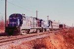w/b CR train led by B23-7s #1958 + #1933