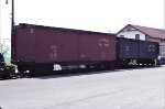 Strasburg Railroad Box Cars 110 and 104 in 1985