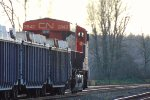 W/B mixed freight consist led by CN 2842, west of Gladwin crossing