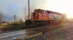 CN #998, powered by CN 5330 reversing W/B just past Gladwin crossing
