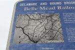 Location of Belle Mead, Delaware & Bound Brook RR, PRR