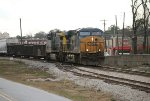 CSX 5245 and 446 pass the switch heading NB
