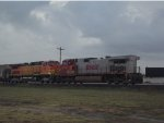 BNSF H2 and Warbonnet on the rear