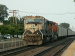 BN 9518 rolls West