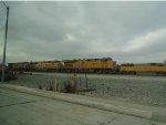 Two Union Pacific Building America Painted GE Locos Power Move at Dolores Yard