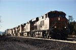 Eastbound intermodal fights up the grade