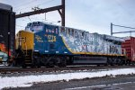 "CSX ES44AH #1776 ""Spirit of our Armed Forces"" on Q410"