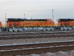 BNSF 3703 and the Rear Radiator Section of BNSF 3702.