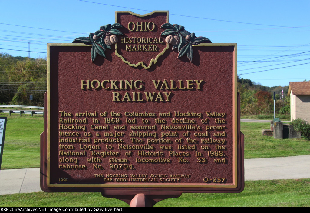 Hocking Valley Rwy Historical Marker