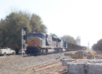 CSX 4782 passing the the new siding 