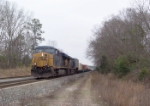 CSX 5241 heading north on the double track